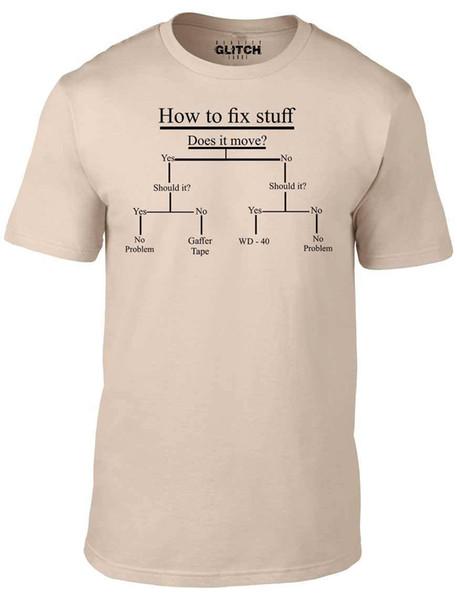 Detaylar zu Nasıl şeyler tamir T-Shirt-Komik t shirt DIY şaka baba grandad hediye baba günü Rahat Komik ücretsiz kargo Unisex tee hediye
