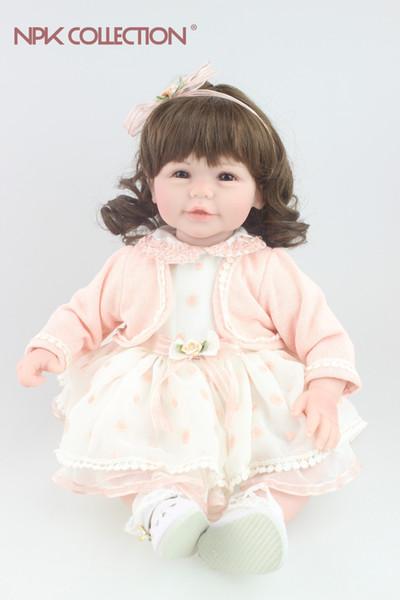 Güzel bebek bukleler saç tasarım Reborn yürüyor kız bebek tatlı arkadaşlar için arkadaş festivali Hediye Oyuncaklar