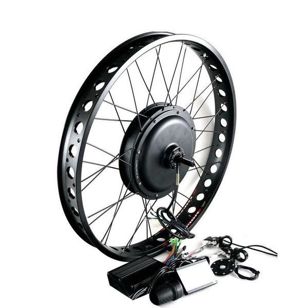 "170mm 190mm Rear brushless Non Gear hub motor wheel 26"" 4.0 Tyre 48V Electric Fat Bike Conversion Kit Snow Bicycle kit 1000W"
