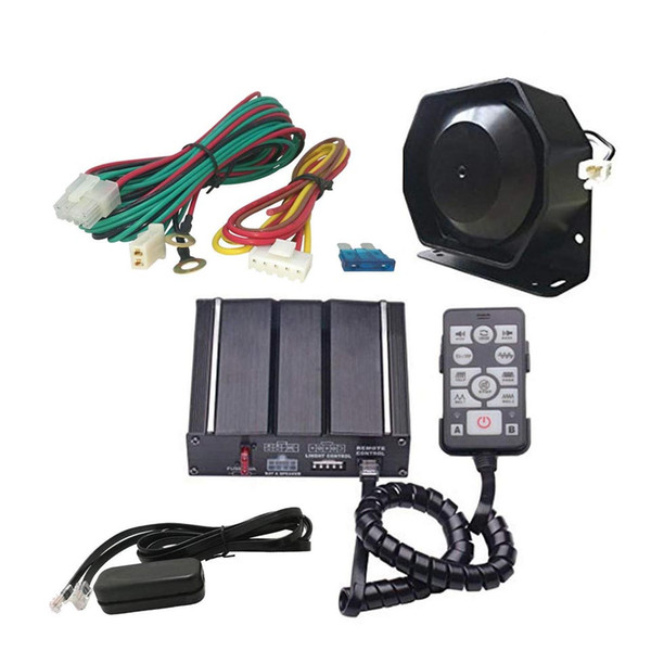 top popular AS 100W Car Wired Electronic Siren with Siren Box Speaker Remote Control PA Function Fit for Police Ambulance Fire Engineer Vehicles 2019