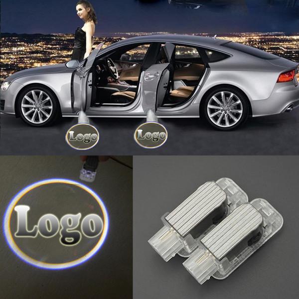 Luces de bienvenida de la puerta del coche láser 3D LED CÍRCULO Ghost Shadow Light Logo Proyector Luces de cortesía para Mercedes-Benz BMW Toyota Audi