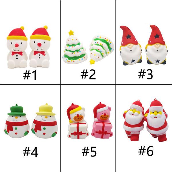 Acheter Kawaii Squishy Jouets Belle Squishies Cadeaux De Noël Père Noël Bonhomme De Neige Cadeau Ours Arbre De Noël Lent Rising Squeeze Dessin Animé