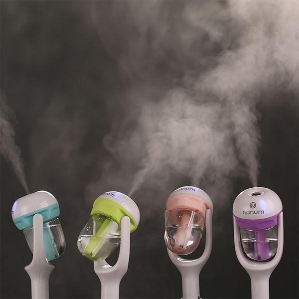 Nanum Car Plug Air Humidifier Purifier,Vehicular Essential Oil Ultrasonic Humidifier Aroma Mist Car Fragrance Diffuser 4 Colors