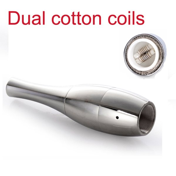 Bowling Atomizer Rebuildable Vase Cannon Heat Insulation Tank Dual Coil Vape Herbal Vapor Wax Dry Herb Vaporizer Pen