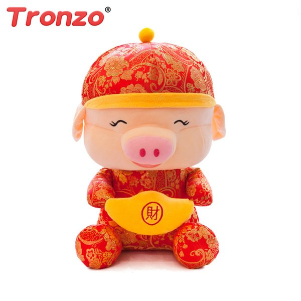 Tronzo Stuffed Animals 25cm 30cm 40cm 50cm PP Cotton Pig Plush Soft Toys Christmas Home Decorations Set Chinese New Year Gift