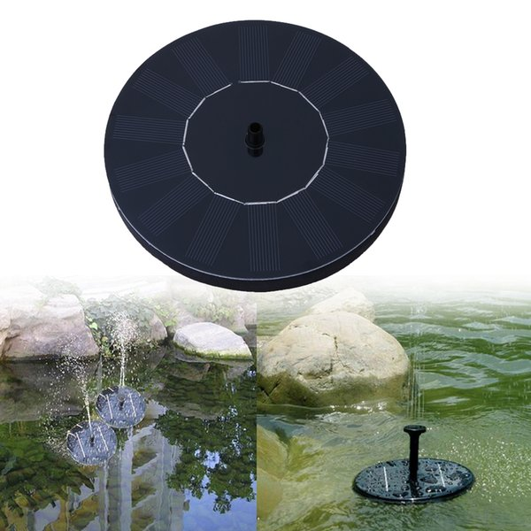 7V 1.0W 160L / H Floating Solar Power Fountain Panel Kit Garden Water Pump for Birdbath Pool Watering Wide Irrigation Pumps