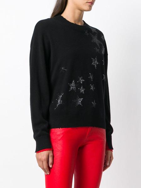 Maglioni di lana di perline di lusso del progettista di marca 2018 Maglioni di pullover di lana d'inverno di moda autunno inverno manuale