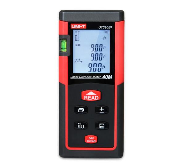 UNI-T UT390B+/UT391+Laser Distance Meter; 40M/60M-100M Infrared Measuring Instrument/Electronic Ruler, Data Storage, Auto Power Off