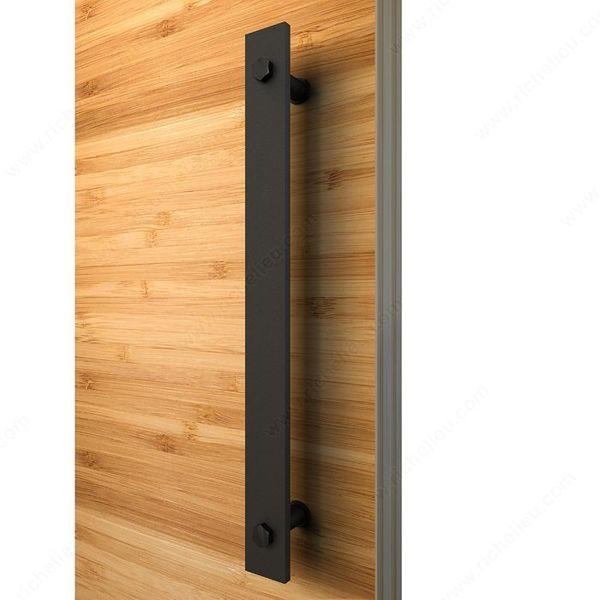 best selling Rustic Black Barn Door Handle And Pull Wood Door Flat Bar To Bar Iron Steel Handle