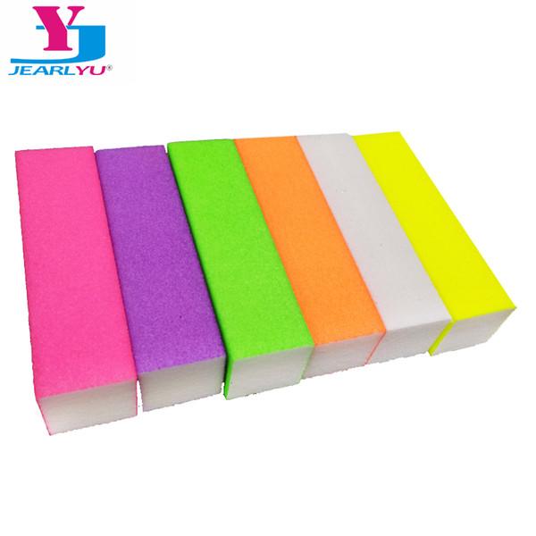 5Pcs Professional Nail File Polish Buffer Sanding Nagels Manicure Random Tool Mini Kalk Nagels Colors Block Files New Brand