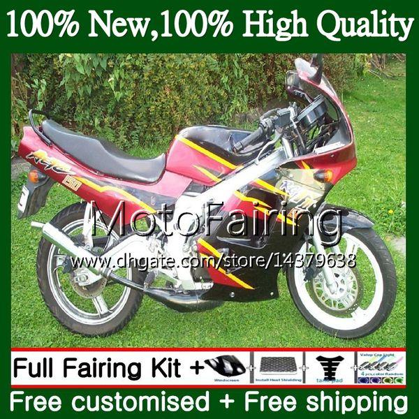 Cuerpo Nuevo para SUZUKI RGV250 VJ23 97-98 RGV 250 97 98 Carrocería 39MF13 RGV-250 Negro rojo VJ 23 Careling RGV250 1997 1998 Kit de carrocería Fairing
