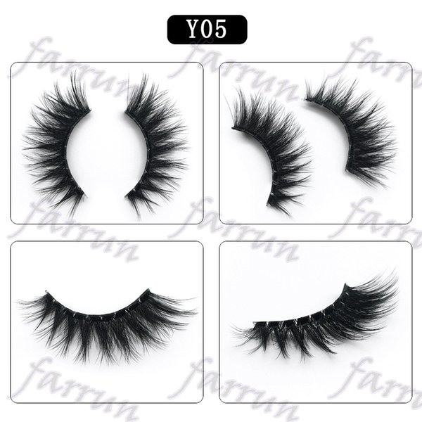 Translucent peduncle single pair false eyelashes in case pack 10 style in different length waviness accept customized order