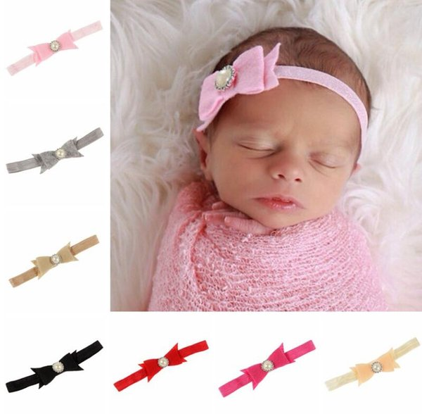 10PCS Fabric Bow Infant Baby Kid Headbands Girl Hairband Headwear Kids Baby Photography Props NewBorn Baby Hair bands Accessories