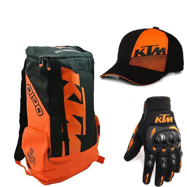 Motorbike Helmet Bag For Ktm Moto Backpack Shoulders Laptop Top Case Mens Motorcycle Luggage Motocross Waterproof Bicycle Helmet Bag