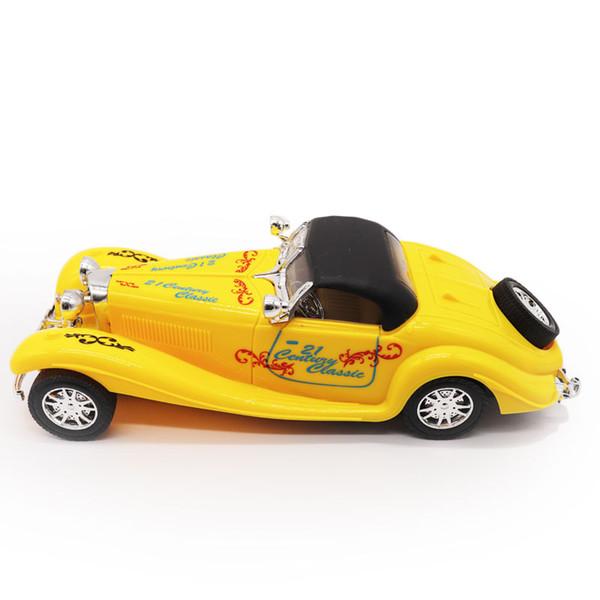 1:20 Gelb / Orange / Weiß Kinder Spielzeug Old Car Modell Legierung Fahrzeug Klassische Oldtimer Für Kinder Jungen