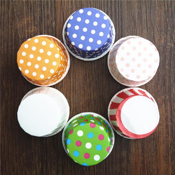 hohe qualität nuss box 48 papier tupfen tasse bonbonschalen backen kuchen cupcake fall 44 * 35 cockecups Liner Muffin Greaseproof Dessert