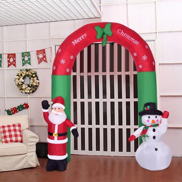 Compre Goplus 25m 82 Año Nuevo Decoración Navideña Para El Hogar Muñeco De Nieve Inflable De Aire Inflable Al Aire Libre Para Interiores Santa