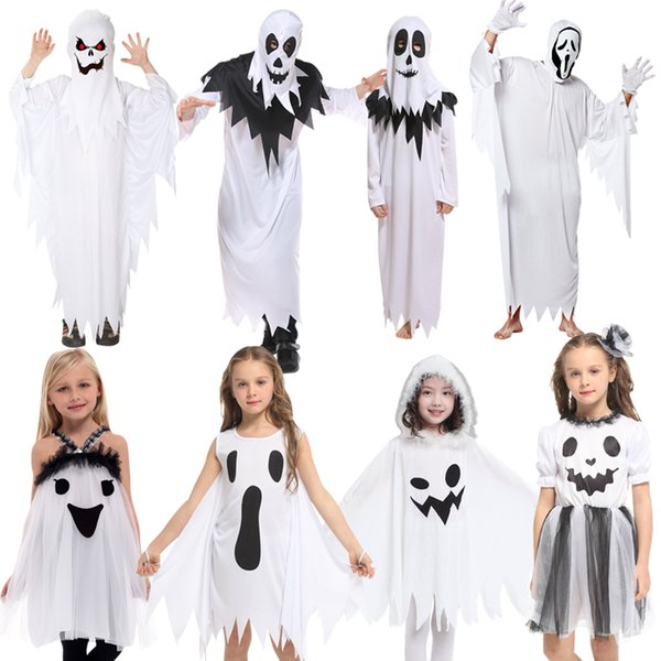 b90c0cbebd981 Halloween Children'S Costume Ghost Set Adult Kids Performance Costume Elf  Dress Up Boys And Girls Ghost Clothes Family Group Halloween Costumes Movie  ...