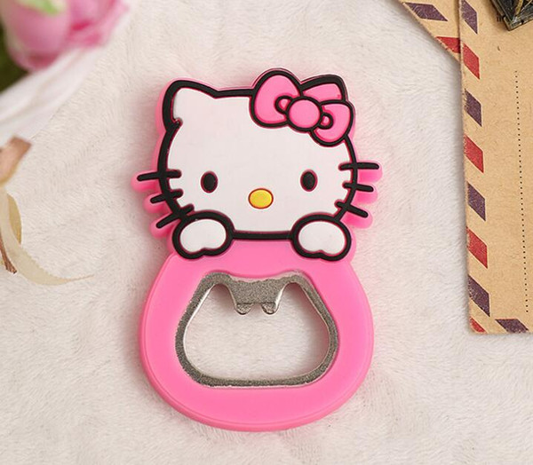 Cartoon hello kitty Eco-friendly Key Chain Fridge Magnets Beer Bottle Opener Decoration with Quality PVC Animal