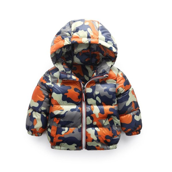 Autumn Winter Children Coat Kids Camouflage Down Cotton Jacket Boys Outerwear Coats Active Girl Windbreaker Baby Clothes