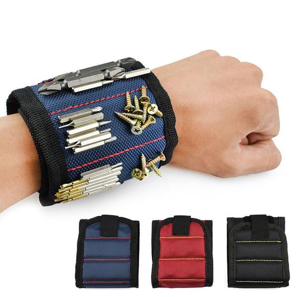 Magnetic Wristband Pocket Tool Cintura Pouch Bag Viti Holder Strumenti di partecipazione Braccialetti magnetici Pratico robusto polso Chuck Toolkit