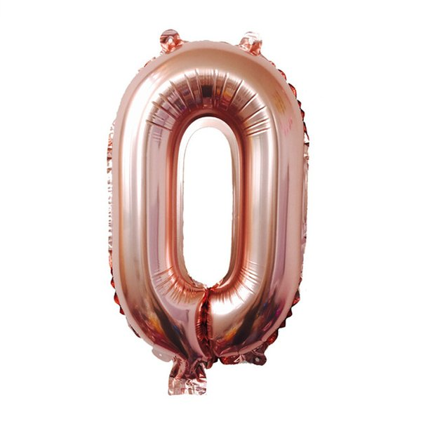promotion 32 Inch Helium foil Air Number Balloon new rose gold Inflatable Balloons Birthday Wedding Decorative toys