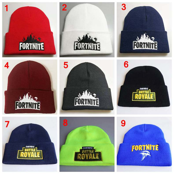 Fortnite embroideried knitted hat women man fashion winter warm black gray cute hip hop caps wool hats