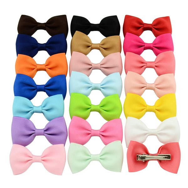 20pcs baby girls kids hair bow boutique alligator clip grosgrain ribbon bowknot hairband for kids girls hair accessories