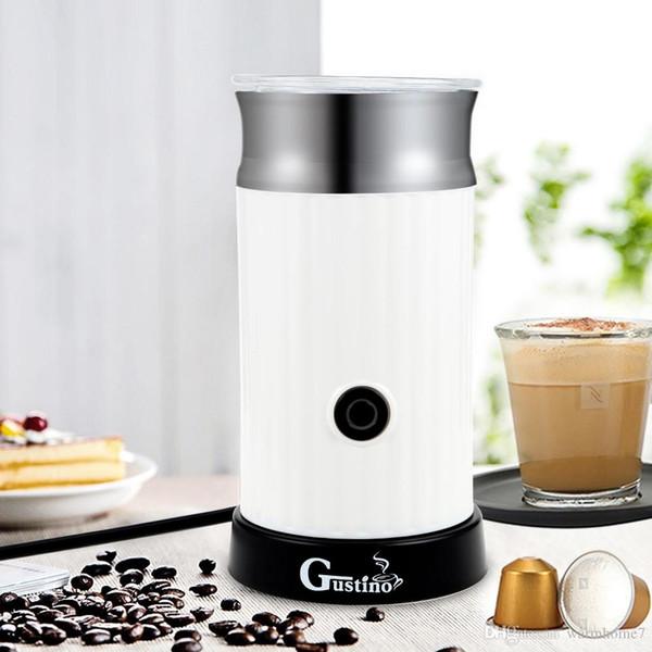 Household Gustino Automatic Cappuccino Coffee Maker Electric Milk Bubble Machine Milk Frother Foamer Cup Heat Latte Hot Foam Maker Warmer TB