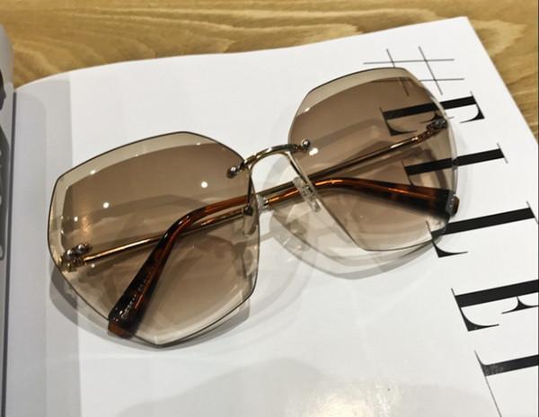 d8d62fe61 Euro chique mulheres elegantes óculos de sol lente gradiente uv óculos de  proteção moda feminina sem