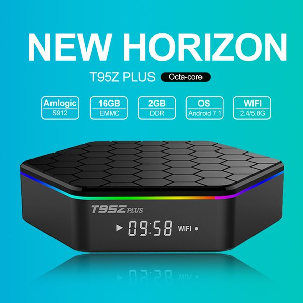 T95ZPLUS best Android internet TV Box Amlgoic S912 Octa Core 2GB 16GB Android 7.1 wifi HD Google live Streaming Media Player