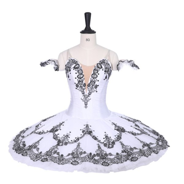 Adult Professional Ballet Tutu Girls Black White Harlequin Ballerina Pancake Tutu Women Performance Ballet Stage Tutu Nutcracker For Child