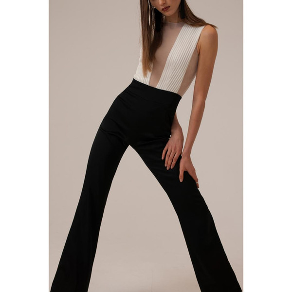 2018 Suit Sexy Round Neck High Lumbar Intestine Trousers Lin Tai Pants Woman jumpsuit