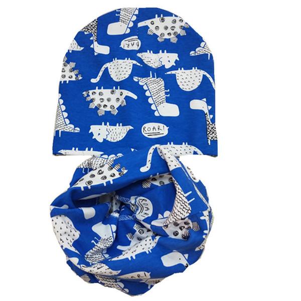 Retail/Wholesale Cotton Children Hat Scarf Collars Spring Autumn Winter Baby Hat Kids Boys Girls Scarf Baby Caps beanies set