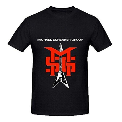 Personalised T Shirts Michael Schenker Group Msg Jazz Men O Neck Cotton T Shirt Men's Graphic O-Neck Short-Sleeve Tees