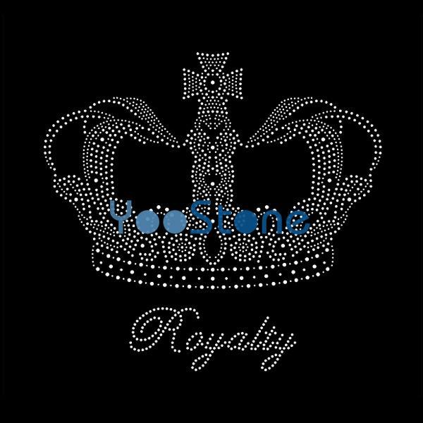 Crown Royalty Rhinestone Transfer For Garment