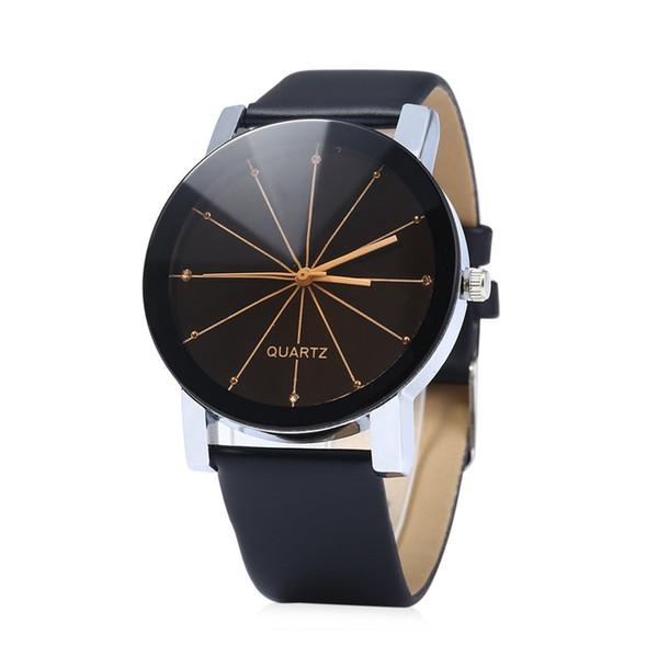 Drop Shipping Pulseira De Couro Relógios De Quartzo Meninos Meninas Estudante Relógio De Pulso Amante Casual Rodada Dial Watch