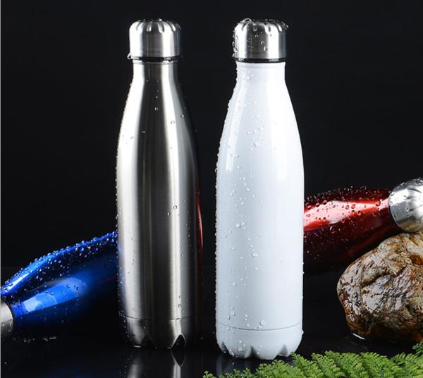 Paslanmaz Çelik bardak Kola Şeklindeki Su şişesi 500 ML Vakum Yalıtımlı Açık spor Seyahat Yaratıcı Bardaklar Kola Bowling Su Şişeleri
