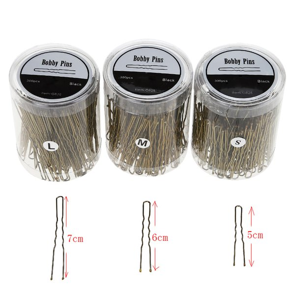 250pcs Hairdressing Styling DIY Tools Hair Pins Bobby Pins Pro Salon Tool Hair Wavy Thin U Clip Barrette Clamps Clips