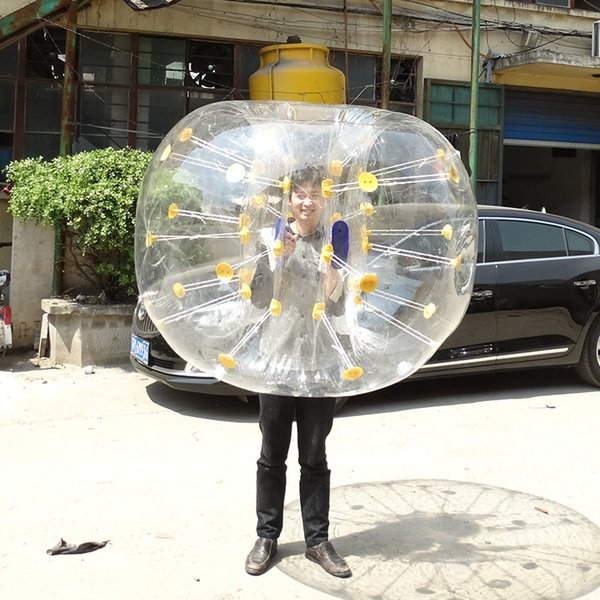 0.8mm PVC 1.5m diameter zorb ball football human knocker ball bubble soccer for adults and kids play game