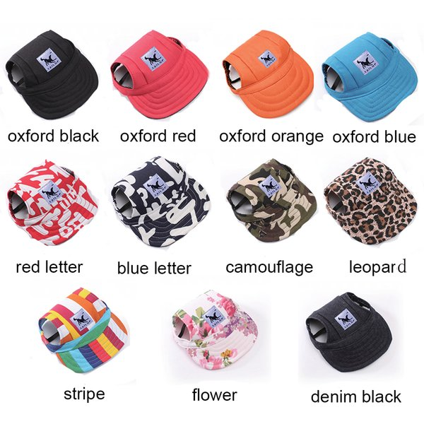 best selling Dog Hat With Ear Holes Summer Canvas Baseball Cap For Small Pet Dog Outdoor Accessories Hiking Pet Products Top Quality