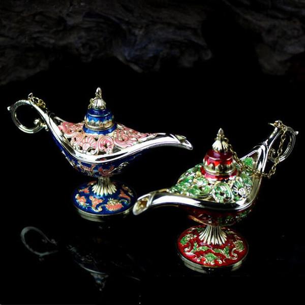 Stile antico Fiaba Aladino Lampade magiche Teiera Genio Lampada Vintage Retro Giocattoli per bambini Regali Decorazione della casa ZA6516