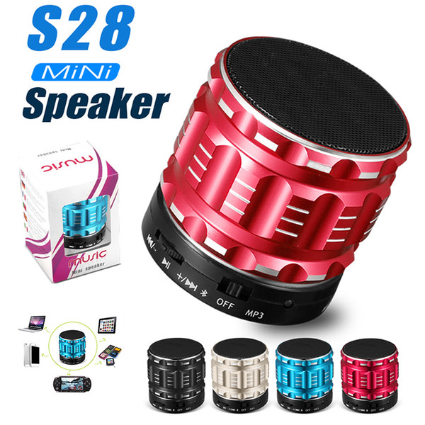 top popular Portable Wireless Bluetooth Speaker S28 with Built in Mic TF Card Handsfree Mini Speaker with Retail Box 2019
