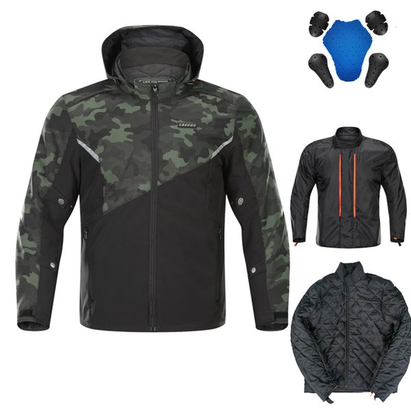 Waterproof Winter Motorcycle Men Jackets Protector Pads Pants Off Road Moto GP Pant Racing Riding MX Suit Summer Removable Liner