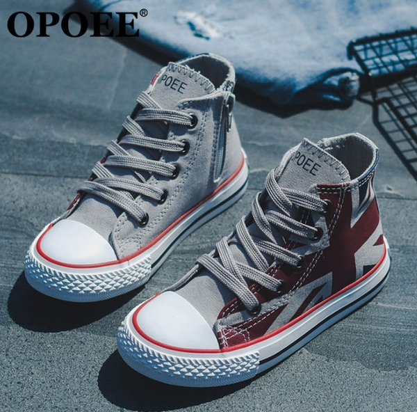 Boys sneakers fashion kids american flag printed canvas casual shoes children non-slip breathable ankler sport running shoes F1971