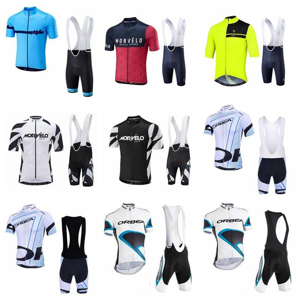 2018 NEW cycling jersey sets For Men pro team Morvelo ORBEA summer ropa ciclismo mountain bike cycling clothing racing bike wear 90507J