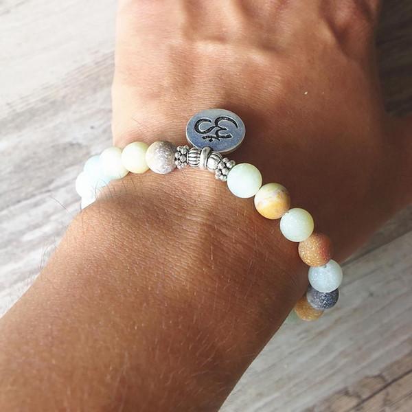 Charm Fashion Buddha Lotus Männer Frauen Armband Perlen Armreif Armband Schmuck Geschenk