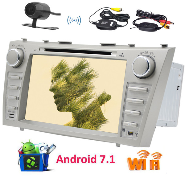 Wireless Camera!EinCar Double Din Android 7.1 Car Autoradio Stereo Octa Core 8'' Car DVD Player GPS Navigation 2GB RAM/32GB ROM