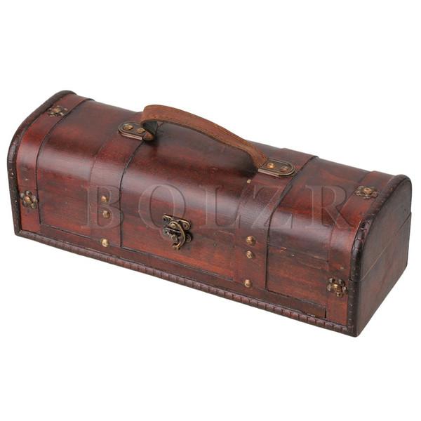 BQLZR Exquisite and Beautiful Retro Wooden Vintage Wine Gift Storage Box Case Holder