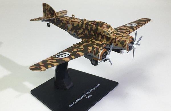 IXO World War II Military Medium Bomber SM-79 Alloy Static Model 1:144 Plastic Decoration Toy Gift Collection Free Shipping
